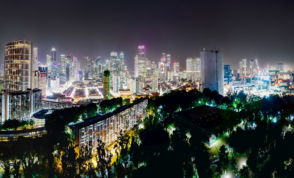 The-Landmark-park-night-view